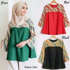 Hasil gambar untuk blouse wanita kombinasi batik 2018. Dwi Yanti · baju  wanita 94a482cdfc