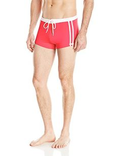 9252efa8ee Sauvage Men's Riviera Square Cut Swim Trunk Review Men's Clothing, Mens  Clothing Styles, Man