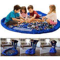 Kinder Aufräumsack Spieldecke Spielzeug Speicher Tasche Aufbewahrung Beutel Spielzeugaufbewahrung XL