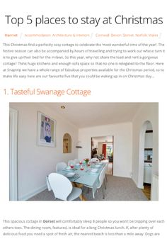 Beautiful cottages for you and your family this Christmas. Think big kitchens, plenty of sofa space. Cottages For You, Uk Holidays, Big Kitchen, Top Place, Cosy, Interior Architecture, Kitchens, Space, Christmas
