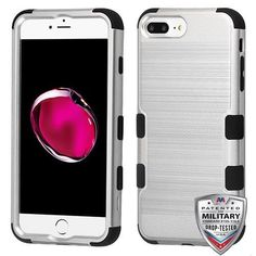 TUFF Brushed Hybrid Phone Protector Cover [Military-Grade Certified] - iPhone 6/6S