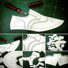 Best 11 How to assemble/stitch oxford's style shoes – SkillOfKing. Sewing Slippers, Shoe Template, Hand Embroidery Videos, Felt Shoes, Modelista, Handmade Leather Shoes, Shoe Pattern, Sewing Leather, How To Make Shoes