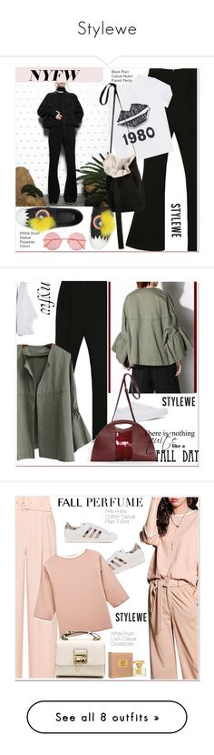 """""""Stylewe"""" by paculi ❤ liked on Polyvore featuring Fendi, Sunday Somewhere, NYFW, Vans, NFW, beauty, Emporio Armani, adidas Originals, Jean Patou and fallperfume"""