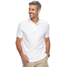 Men's Croft & Barrow® Tailored-Fit Polo, Size: Medium, White