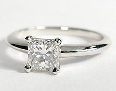 Classic Four Prong Engagement Ring in Platinum. This is my ring and I love it! Nick could not have done a better job :)