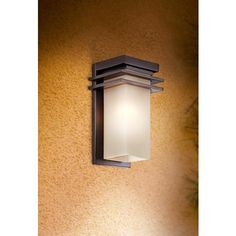 """Bronze and Opal 15"""" x 8 1/2"""" w High Rectangular Outdoor Wall Light $229 one x 100 watt (also comes in 12"""" size)"""