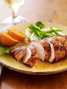 Honey-Orange Chicken with Sesame Sauce