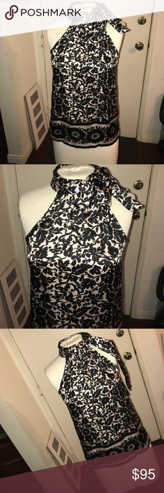 DVF tie neck Floral Print Top Never worn size 2 classy, sexy top. Looks great with pencil skirts, skinny jeans and palazzo pants. Diane von Furstenberg Tops Blouses