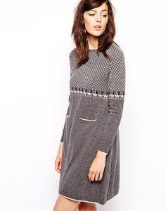 Orla+Kiely+Knitted+Dress+in+Raining+Cat+Fairisle