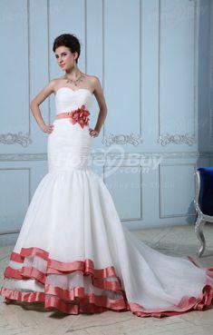 Unique Wedding Dresses With Color | Mermaid Sweetheart Unique Wedding Dresses With Color