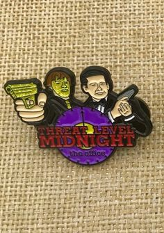 Excited to share this item from my shop: PREORDER - The Office - Threat Level Midnight - Enamel Pin Threat Level Midnight, Office Birthday, Architecture Design, Office Memes, Jacket Pins, Adventure Time Art, Family Adventure, Dunder Mifflin, American Dad