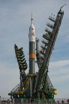 Expedition 35 Soyuz Rollout (201303260025HQ)  #soyuz #rocket #launchpad