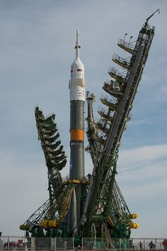 Expedition 35 Soyuz Rollout (201303260025HQ) #soyuz #rocket #launchpad