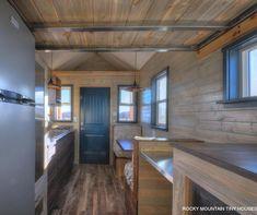 Metal Loft Beams - Ol' Berthoud Blue by Rocky Mountain Tiny Houses