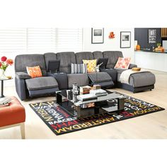 Frida Theatre 4 Seat Corner with Chaise - Fabric from Harvey Norman NewZealand 2999