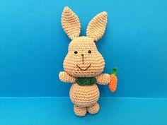 Rabbit (Free - Use translation) Cute Plush, Free Crochet, Free Pattern, Dinosaur Stuffed Animal, Rabbit, Crochet Patterns, Knitting, Toys, Mini