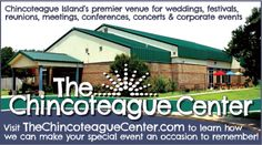 The Chincoteague Center, Chincoteague, VA is the perfect place to bring people together for an array of events like weddings, festivals, reunions, meetings, conferences, concerts & corporate events. Visit thechincoteaguecenter.com to learn more about how you can make your occasion a memorable one with them!  www.frugals.biz