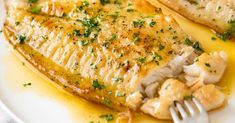 This Lemon Butter Fish Fillet only takes 20 minutes and a handful of ingredients. It's a tasty and nutritious white fish fillet recipe. Pair with vegetables and rice for a healthy weeknight dinner. Fish Recipes Bbc, Salmon Recipes, Seafood Recipes, Hake Recipes, Tilapia Recipes, Soup Recipes, Lemon Fish, Healthy Dinner Recipes, Cooking Recipes