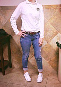 Uniform #swag - Katie Rynearson Swag Fashion, Womens Fashion, Swag Style, Pants, Trouser Pants, Women's Fashion, Swag Outfits, Women's Pants, Woman Fashion