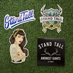 A whole array of sticker goodness for STAG CLOTHING!  http://www.standtallamongstgiants.co.uk/