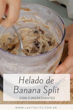 Banana Split, Plant Based, Healthy Living, Food Porn, Ice Cream, Baking, Desserts, Link, Recipes