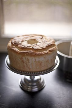 citrus angel food cake with peaches   Zoe Bakes