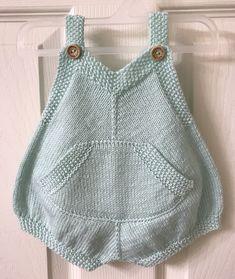 Baby Knitting Patterns, Baby Patterns, Crochet Food, Knit Crochet, Baby Romper Pattern, Baby Bloomers, Knitted Romper, Seed Stitch, Crochet Jacket
