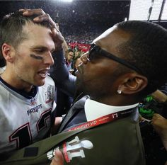 Randy Moss congratulating Tom Brady after super bowl 51 victory over the Atlanta Falcons. Man I wish these two finished that undefeated season