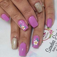 Cute Nail Art, Easy Nail Art, Cute Nails, Les Nails, Fingernail Designs, Colorful Nail Designs, Gorgeous Nails, Manicure And Pedicure, Gel Nail Polish