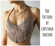 PDF-file for Crochet PATTERN Numa Crochet Top Sizes XS-L
