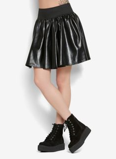 Faux Leather Circle Skirt | 25% Off Regular Price