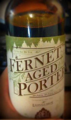 Leopold Bros. Fernet aged Porter - coming in late Sept!