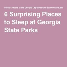 If you think staying at one of Georgia's 63 state parks and historic sites means roughing it, prepare to be pleasantly surprised. Georgia State Parks, Historical Sites, Best Mom, Sleep, Awesome Mom, Places, Lugares