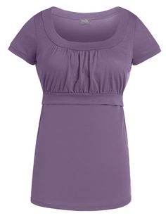 Empire Scoop-neck Nursing Top  - A great everyday top for breastfeeding moms! - milkandbaby.com