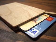 wood wallet. slim. por yournestinspired en Etsy
