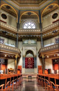 Gyor synagogue interior