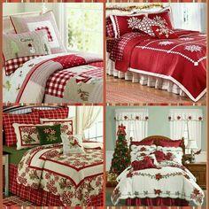 Christmas bedding!! Christmas Bedding, Comforters, Bedrooms, Organization, Quilts, Blanket, Furniture, Home Decor, Bedspread