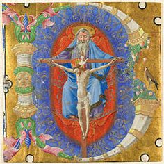 Initial B: The Trinity, Taddeo Crivelli, about 1460-70