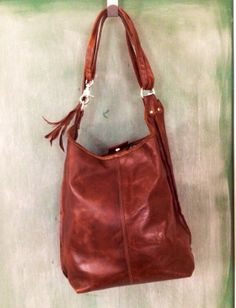 a078551354 ADJUSTABLE TOTE     brown leather hobo   tote by Kurier on Etsy