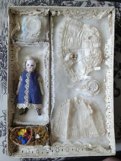 Fabulous French All Bisque Mignonette Presentation Box from au-nain-bleu-ii on Ruby Lane