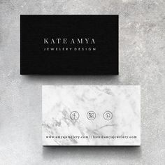 Minimalistic Marble Business Card  Follow us: Twitter | Facebook | Pinterest…