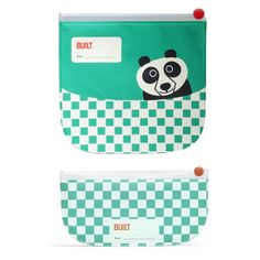 This very cute re-useable Sandwich & Snack Pack is fantastic.   Your little one will look forward to lunch time with these cute little panda character inspired bags.   The set consists of 2 ziplock closure bags in both sandwich & snack size. New heat sealing technology keeps food fresh and crumb-free.   The perfect sized bags for school & kindy lunches or even for when you are out and about.