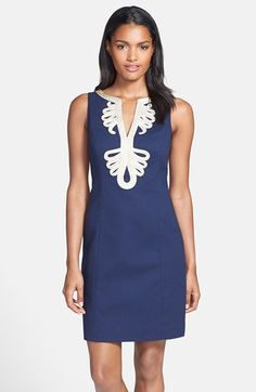 Lilly Pulitzer® 'Janice' Soutache Trim Shift Dress available at #Nordstrom