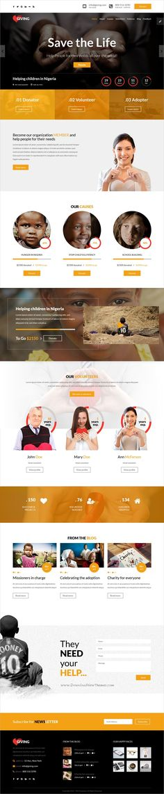 HappyCharity - Multipurpose Nonprofit Charity PSD Template Psd - ngo templates