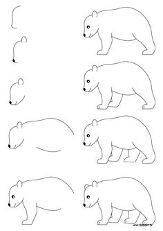 How To Draw A Bear For Kids Step By Step How to draw bears step by step