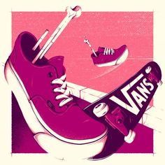 #illustration by Designer of the Week Christi du Toit, a funny, independent creative who hails from South Africa and specializes in illustration and custom lettering #vans