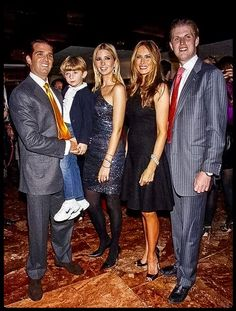 The Trumps--Donald Jr., Barron, Ivanka, Melania, and Eric Donald Trump Family, Donald Jr, Eric Trump, Malania Trump, Trump Train, Trump Kids, Trump Children, Donald And Melania, Trump International