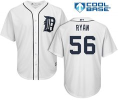 Kyle Ryan Detroit Tigers Cool Base Replica Home Jersey