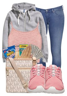 """""""."""" by ray-royals ❤ liked on Polyvore featuring moda, Ksubi, H&M, Boohoo y NIKE"""
