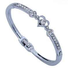 Check out Silver Plated Heart Crystal Bracelet. in my store today!⚡️ http://thehappycuban.com/products/silver-plated-crystal-bracelet?utm_campaign=crowdfire&utm_content=crowdfire&utm_medium=social&utm_source=pinterest